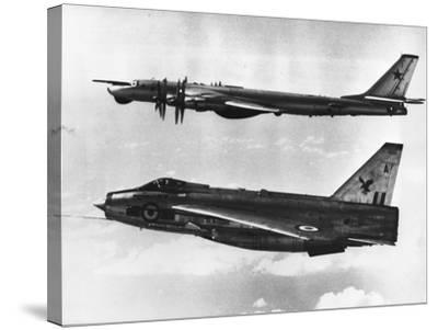 British Fighter Intercepting Soviet Bomber--Stretched Canvas Print