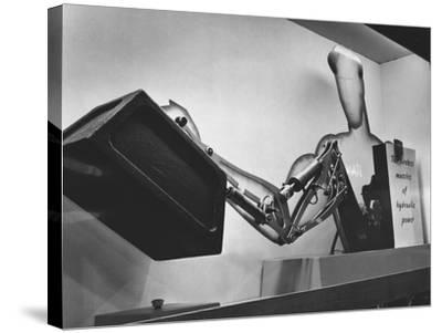 Mechanical Handling Exhibition: an Advertisement for the Exhibition--Stretched Canvas Print