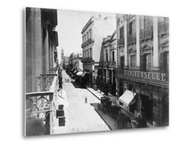 Buenos Aires Streetscene--Metal Print