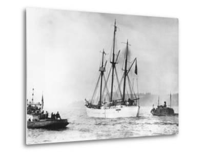 Amundsen's Vessel Returns from the Arctic--Metal Print