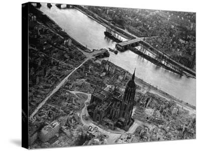 Bomb Damaged Frankfurt, 1945--Stretched Canvas Print