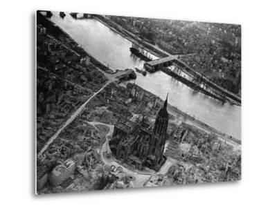 Bomb Damaged Frankfurt, 1945--Metal Print