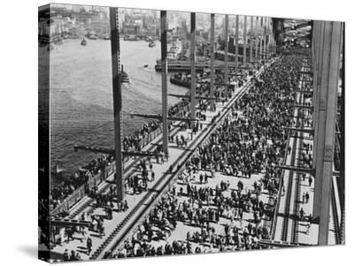 Opening of the Sydney Harbour Bridge--Stretched Canvas Print