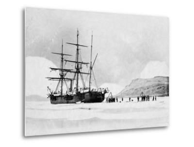 HMS Alert in Arctic Circle--Metal Print