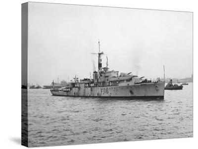 Arrival of HMS Amethyst, Hong Kong 1949--Stretched Canvas Print