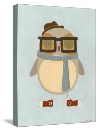 Hipster Owl II-Erica J^ Vess-Stretched Canvas Print