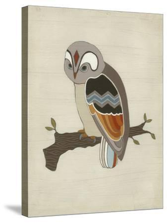 Chevron Owl II-Erica J^ Vess-Stretched Canvas Print