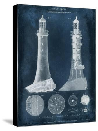 Lighthouse Blueprint-Vision Studio-Stretched Canvas Print