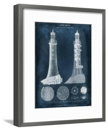 Lighthouse Blueprint-Vision Studio-Framed Art Print