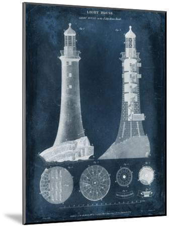 Lighthouse Blueprint-Vision Studio-Mounted Art Print