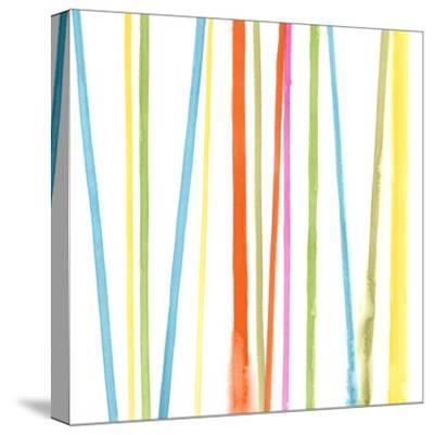 Cabana Stripes II-Erica J^ Vess-Stretched Canvas Print