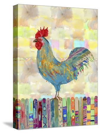 Rooster on a Fence II-Ingrid Blixt-Stretched Canvas Print