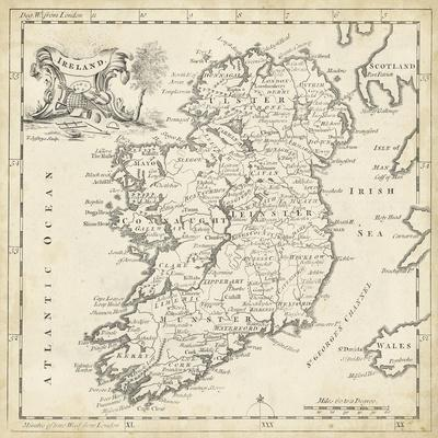 Map of Ireland-T^ Jeffreys-Art Print