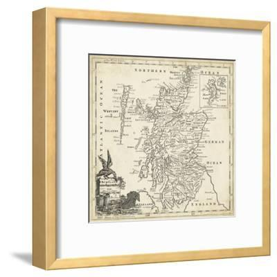 Map of Scotland-T^ Jeffreys-Framed Art Print