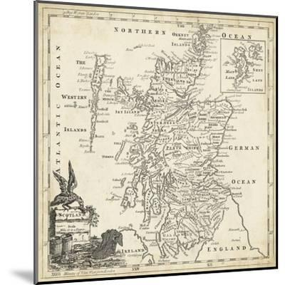 Map of Scotland-T^ Jeffreys-Mounted Art Print