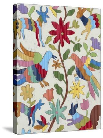 Otomi Embroidery I-Chariklia Zarris-Stretched Canvas Print