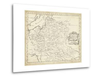 Map of Poland-T^ Jeffreys-Metal Print