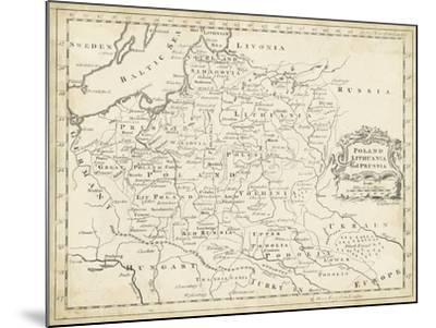 Map of Poland-T^ Jeffreys-Mounted Art Print