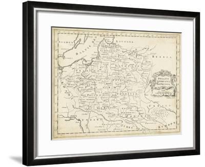 Map of Poland-T^ Jeffreys-Framed Art Print
