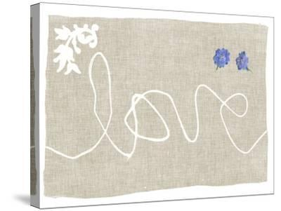 Simple Words VI-Jennifer Goldberger-Stretched Canvas Print