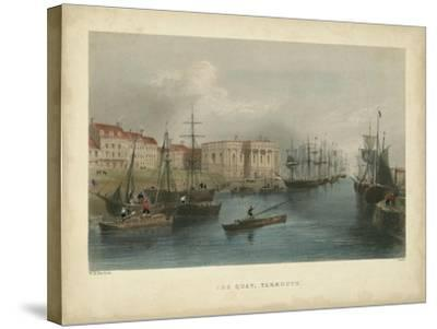 The Quay, Yarmouth-William Henry Bartlett-Stretched Canvas Print