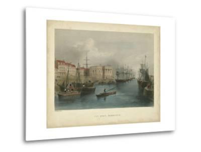The Quay, Yarmouth-William Henry Bartlett-Metal Print