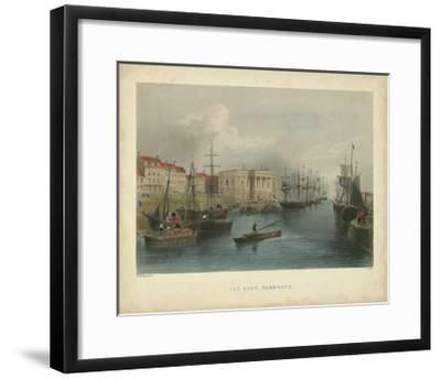 The Quay, Yarmouth-William Henry Bartlett-Framed Art Print