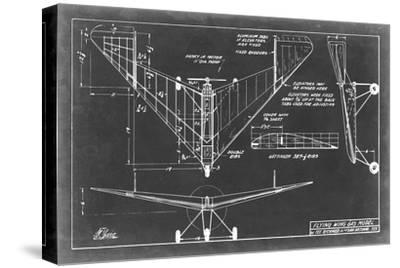 Aeronautic Blueprint V-Vision Studio-Stretched Canvas Print