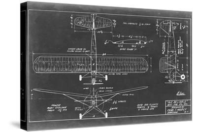 Aeronautic Blueprint VIII-Vision Studio-Stretched Canvas Print