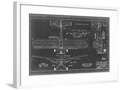 Aeronautic Blueprint VIII-Vision Studio-Framed Art Print