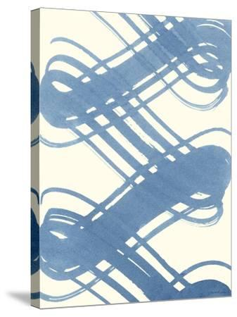 Macrame Blue I-Vanna Lam-Stretched Canvas Print