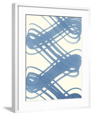 Macrame Blue I-Vanna Lam-Framed Art Print