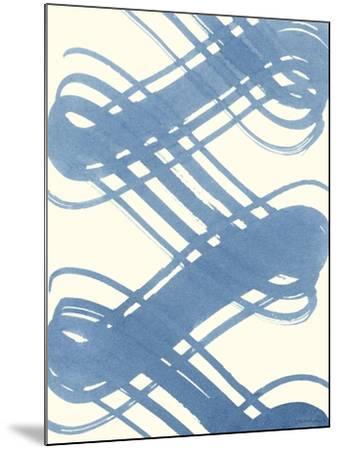 Macrame Blue I-Vanna Lam-Mounted Art Print