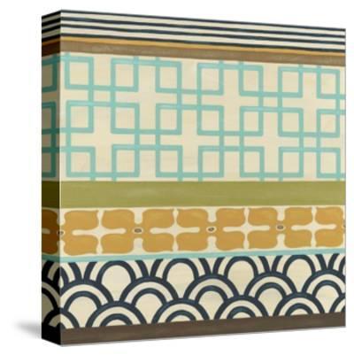 Non-Embellish Geometric Frieze III-Erica J^ Vess-Stretched Canvas Print