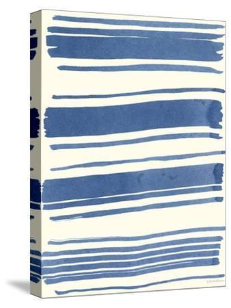 Macrame Blue III-Vanna Lam-Stretched Canvas Print