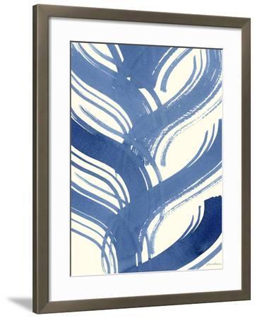 Macrame Blue IV-Vanna Lam-Framed Art Print