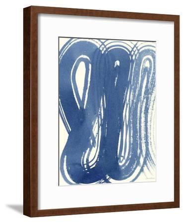 Macrame Blue V-Vanna Lam-Framed Art Print