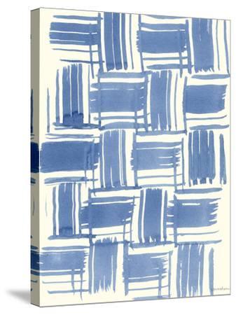 Macrame Blue VI-Vanna Lam-Stretched Canvas Print