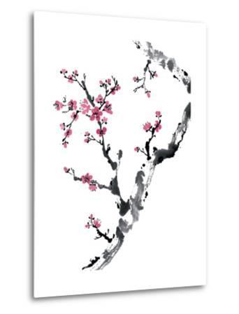 Plum Blossom Branch II-Nan Rae-Metal Print