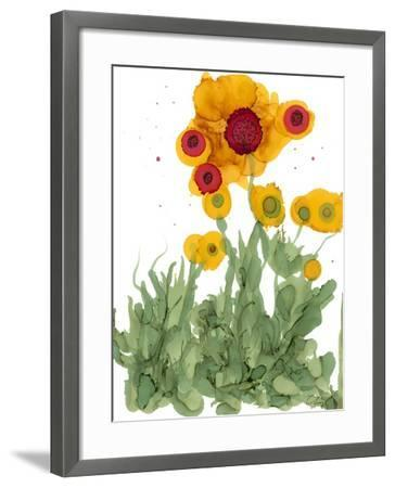 Poppy Whimsy I-Cheryl Baynes-Framed Art Print