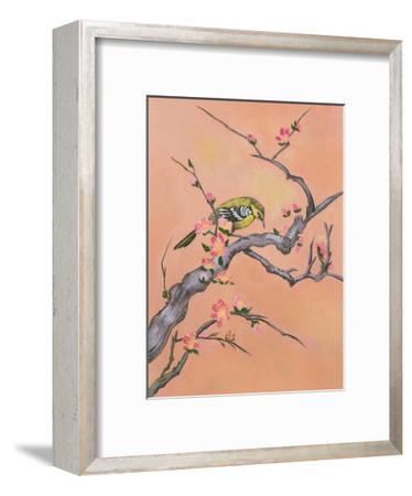Asian Bird Illustration I-Judy Mastrangelo-Framed Premium Giclee Print