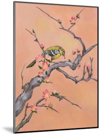 Asian Bird Illustration I-Judy Mastrangelo-Mounted Premium Giclee Print