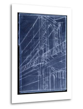 Bridge Blueprint I-Ethan Harper-Metal Print