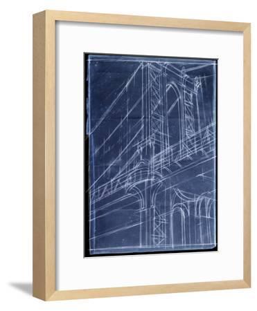 Bridge Blueprint I-Ethan Harper-Framed Art Print