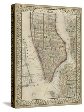 Plan of New York-Mitchell-Stretched Canvas Print