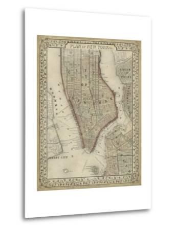 Plan of New York-Mitchell-Metal Print