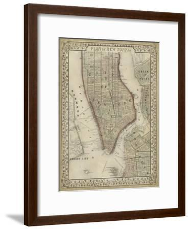 Plan of New York-Mitchell-Framed Art Print