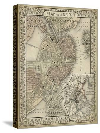 Plan of Boston-Mitchell-Stretched Canvas Print