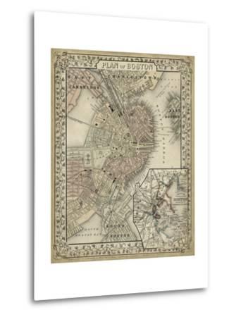 Plan of Boston-Mitchell-Metal Print