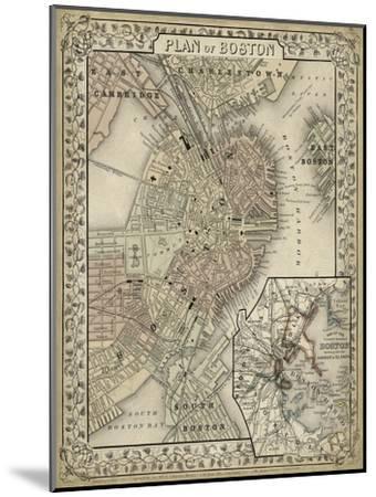 Plan of Boston-Mitchell-Mounted Art Print